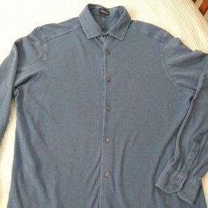 DRUMOHR BLUE COTTON CASUAL SHIRTS SIZE XXL